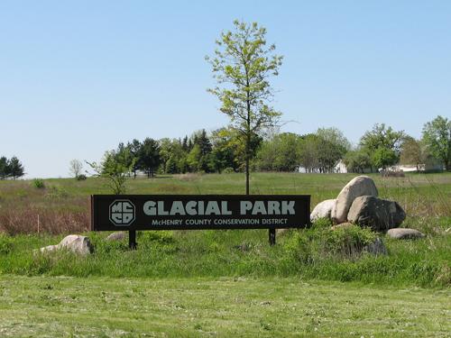 Glacial Park entrance sign