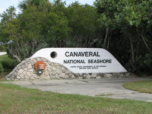 Canaveral National Seashore sign
